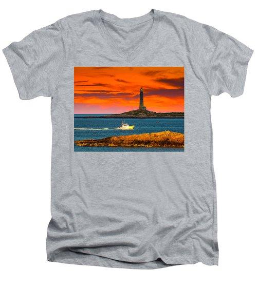 Lobster Boat Cape Cod Men's V-Neck T-Shirt