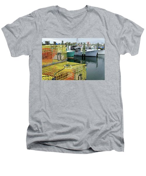Lobster Traps In Galilee Men's V-Neck T-Shirt