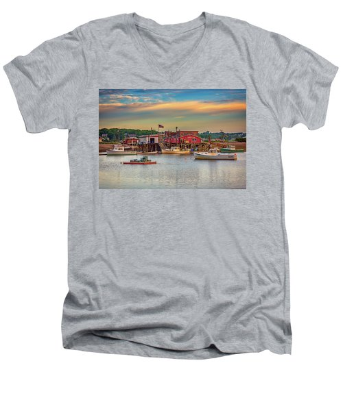 Men's V-Neck T-Shirt featuring the photograph Lobsters by Rick Berk