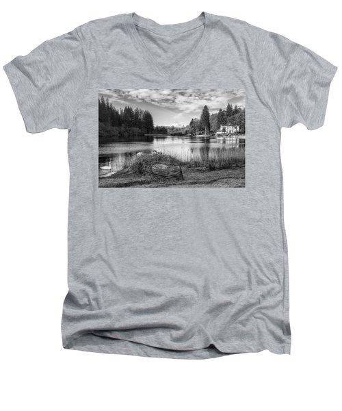 Loch Ard In Aberfoyle Men's V-Neck T-Shirt