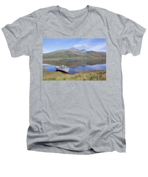 Loch Beg Reflections Men's V-Neck T-Shirt