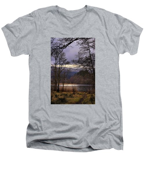 Men's V-Neck T-Shirt featuring the photograph Loch Venachar by Jeremy Lavender Photography