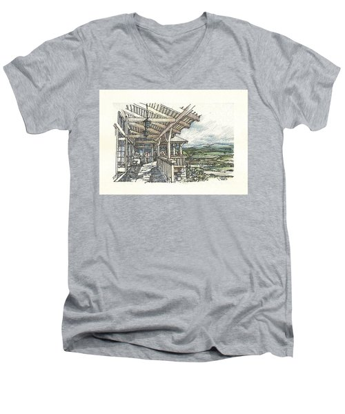 Lodge 2 Men's V-Neck T-Shirt by Andrew Drozdowicz