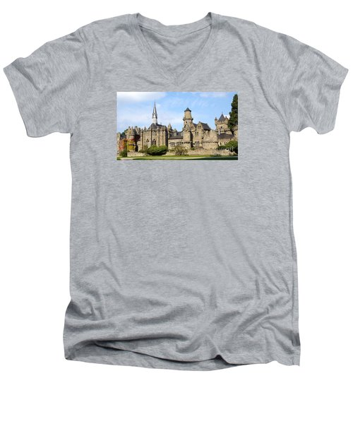 Loewenburg - Lionscastle Near Kassel, Germany Men's V-Neck T-Shirt