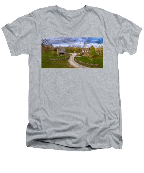 Log Cabins Men's V-Neck T-Shirt