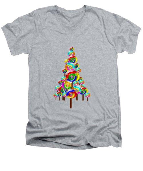 Lollipop Tree Men's V-Neck T-Shirt