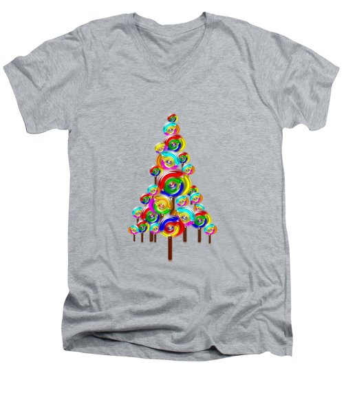 Lollipop Tree Men's V-Neck T-Shirt