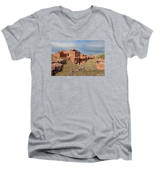 Lomaki Pueblo Ruins Men's V-Neck T-Shirt