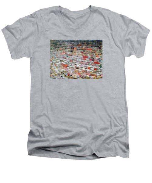 London Bricks Men's V-Neck T-Shirt by Tiffany Marchbanks