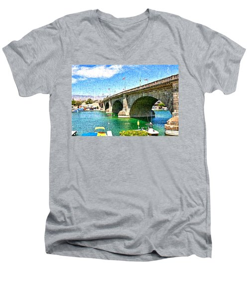 London Bridge In Arizona Men's V-Neck T-Shirt