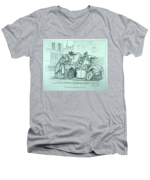 London Coffee Stall Men's V-Neck T-Shirt