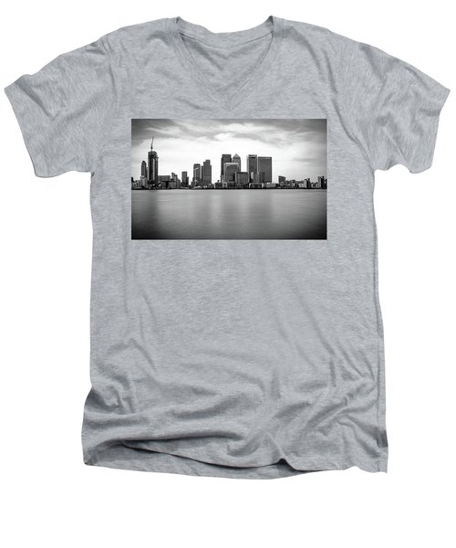 London Docklands Men's V-Neck T-Shirt by Martin Newman