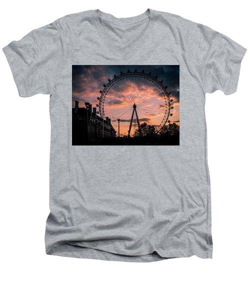 London Eye #1 Men's V-Neck T-Shirt