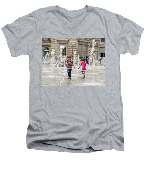 London Fun  Men's V-Neck T-Shirt by Keith Armstrong