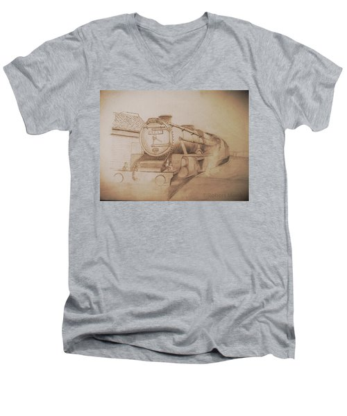 London Steam Locomotive  Men's V-Neck T-Shirt