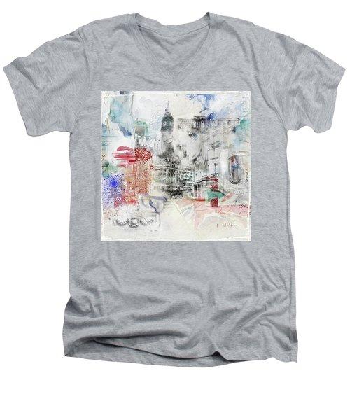 London Study Men's V-Neck T-Shirt by Nicky Jameson