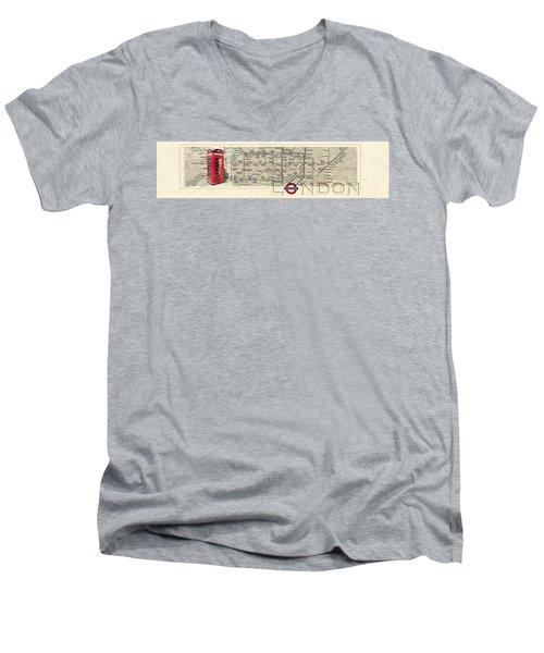 London Underground Men's V-Neck T-Shirt