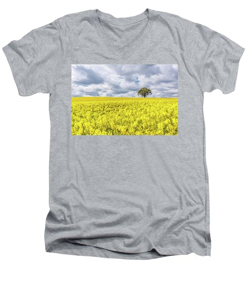 Men's V-Neck T-Shirt featuring the photograph Lone Beauty by Nick Bywater