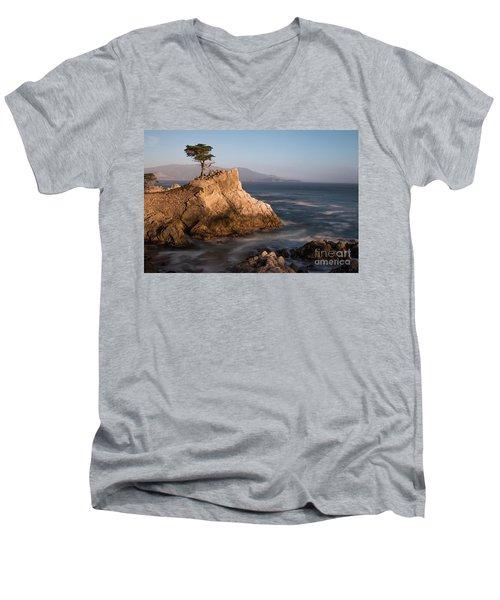 lone Cypress Tree Men's V-Neck T-Shirt