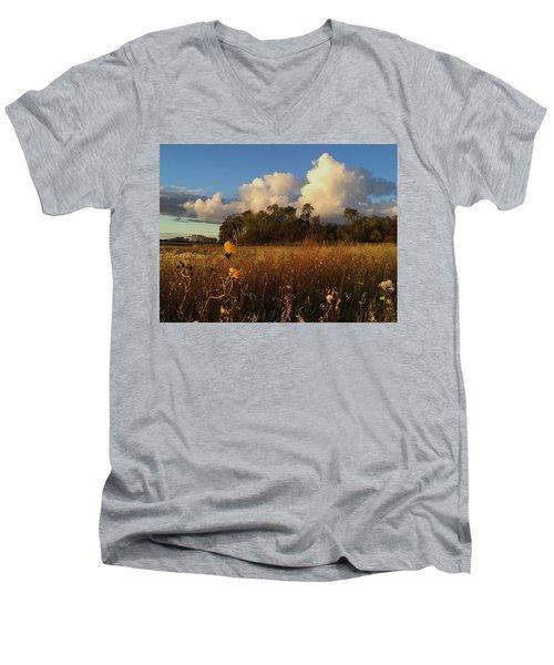 Lone Flower Men's V-Neck T-Shirt