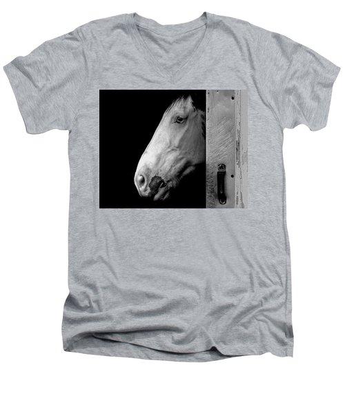 Lone Horse Men's V-Neck T-Shirt