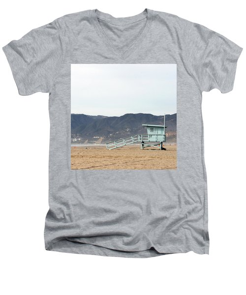 Lone Lifeguard Tower Men's V-Neck T-Shirt
