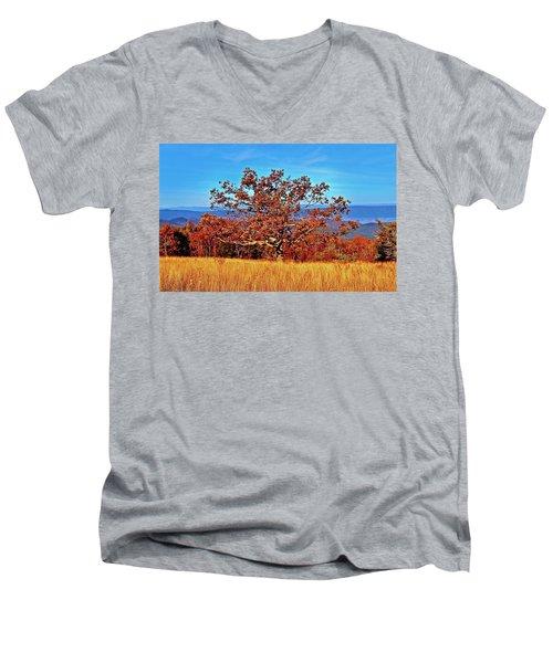 Lone Mountain Tree Men's V-Neck T-Shirt