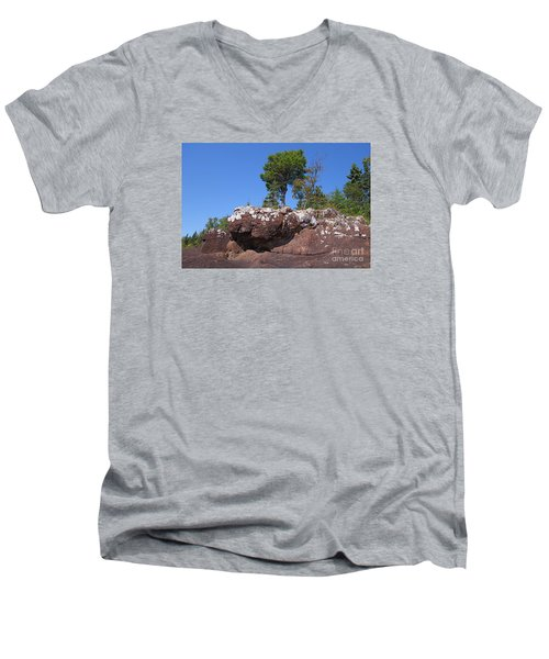Men's V-Neck T-Shirt featuring the photograph Lone Pine Sentinel  by Sandra Updyke