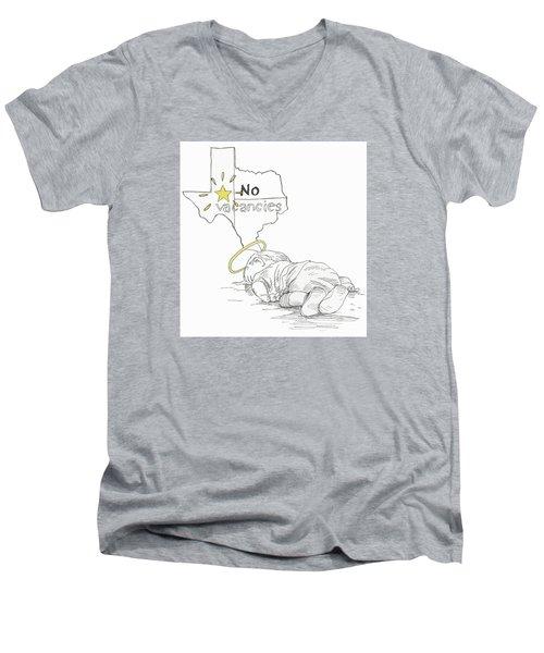 Lone Star State Of Fear Men's V-Neck T-Shirt by Steve Hunter