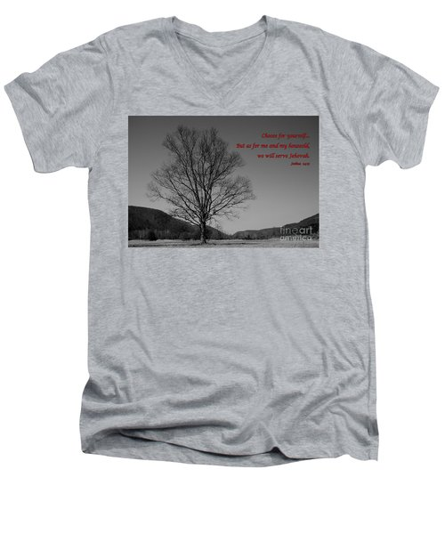 Lone Tree Men's V-Neck T-Shirt