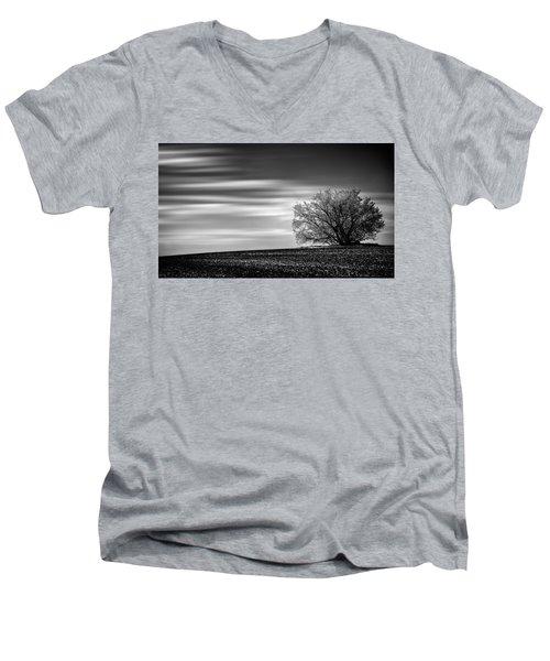 Men's V-Neck T-Shirt featuring the photograph Lone Tree by Dan Jurak