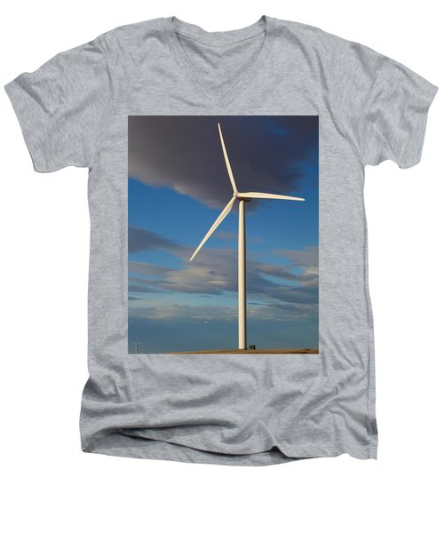 Lone Turbine Men's V-Neck T-Shirt