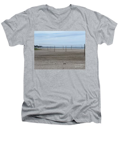 Lonely Beach Volleyball Men's V-Neck T-Shirt
