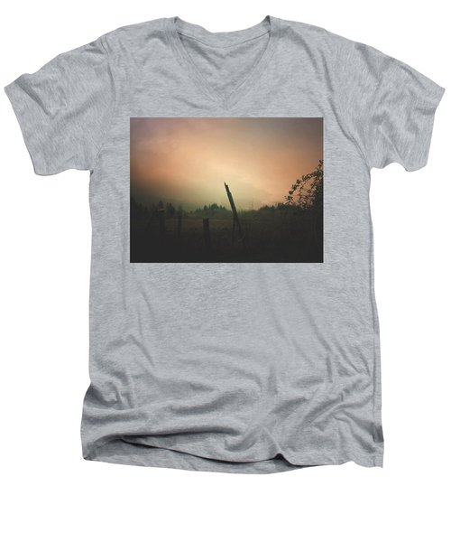 Lonely Fence Post  Men's V-Neck T-Shirt
