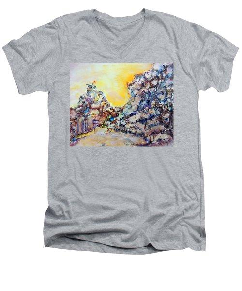 Lonely Flower Men's V-Neck T-Shirt