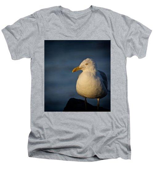Lonely Gull Men's V-Neck T-Shirt