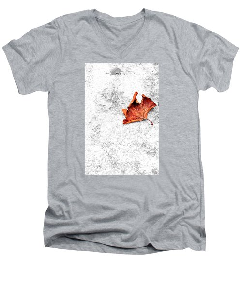 Men's V-Neck T-Shirt featuring the photograph Lonely by Marwan Khoury