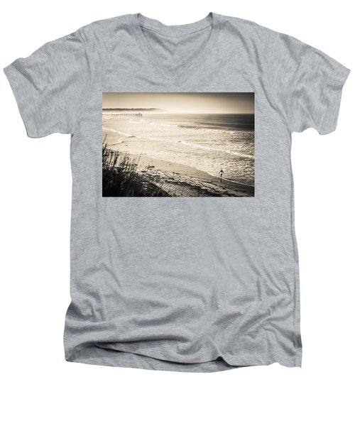 Lonely Pb Surf Men's V-Neck T-Shirt