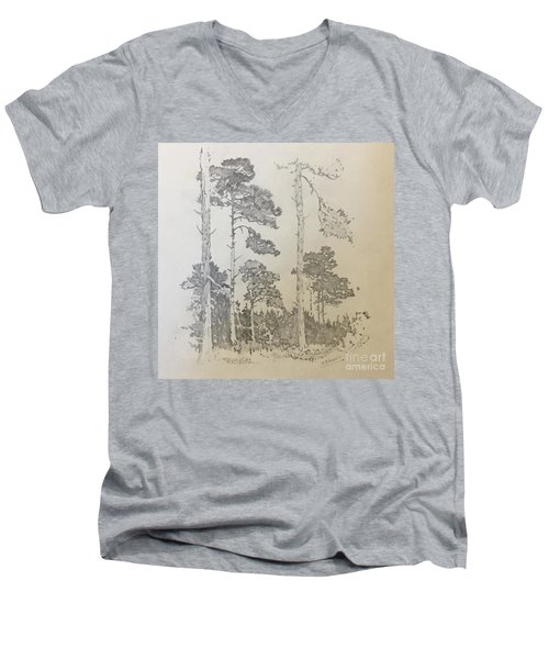Lonely Pines Men's V-Neck T-Shirt