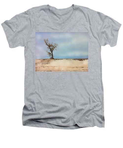 Lonely Sentinel  Men's V-Neck T-Shirt