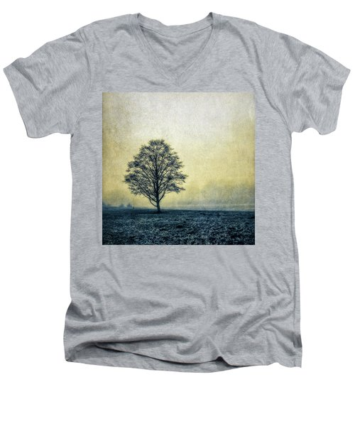 Lonely Tree Men's V-Neck T-Shirt by Marion McCristall