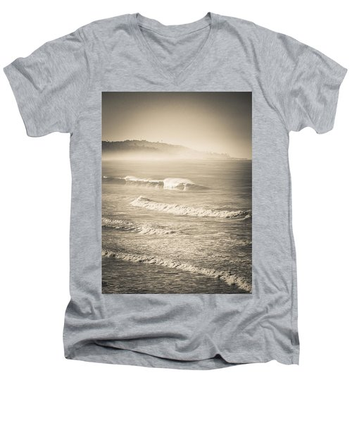 Lonely Winter Waves Men's V-Neck T-Shirt