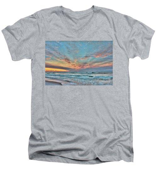 Long Beach Island Sunrise Men's V-Neck T-Shirt
