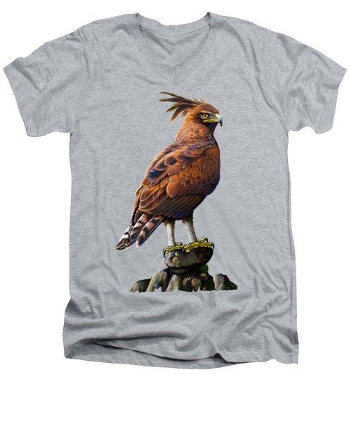 Long Crested Eagle Men's V-Neck T-Shirt