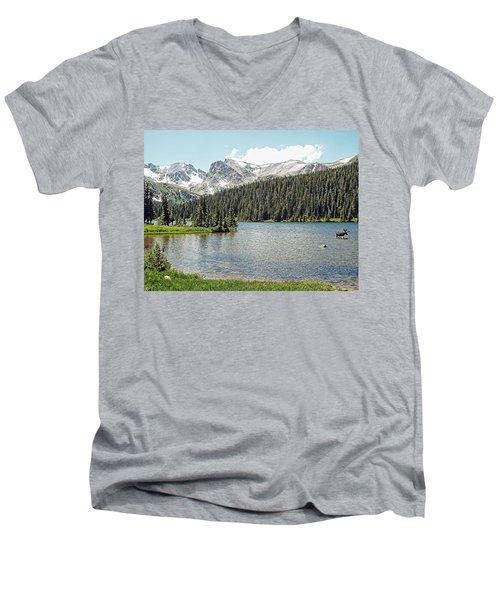Long Lake Splender Men's V-Neck T-Shirt