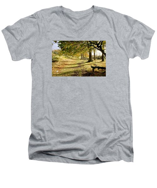 Long Shadows Of The Afternoon Men's V-Neck T-Shirt