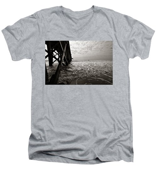 Long To Surf Men's V-Neck T-Shirt by David Sutton