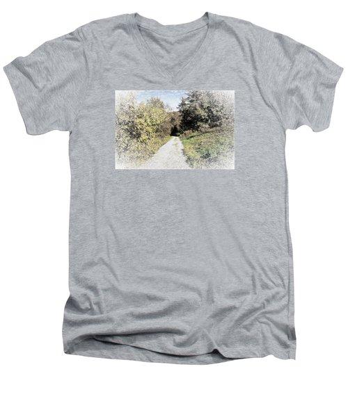 Long Trail Men's V-Neck T-Shirt by Rena Trepanier