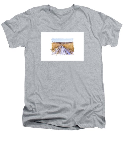 Long Way Artistic  Men's V-Neck T-Shirt
