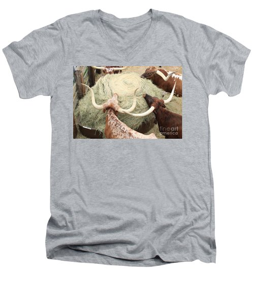 Longhorn Puzzler Men's V-Neck T-Shirt